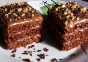 prajitura cu cioco si nuci caramel