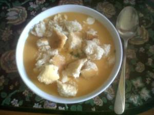 supa de dovleac cu crutoane