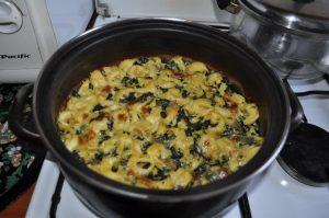 tortellini al forno cu spanac si blue cheese
