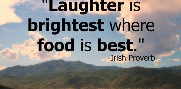 laughter is better where food is best