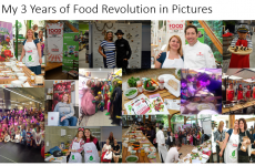 3 years Food Revolution Day  colage